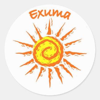 Exuma Bahamas Etiqueta Redonda