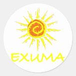 Exuma, Bahamas Etiquetas Redondas