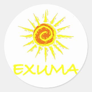 Exuma Bahamas Etiquetas Redondas