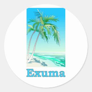 Exuma, Bahamas Etiqueta Redonda