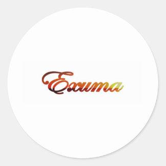 Exuma Bahamas Pegatina Redonda