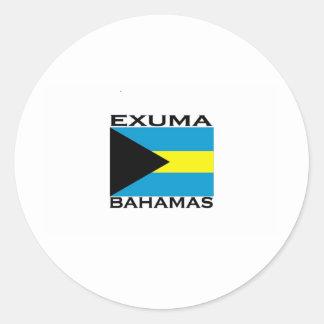 Exuma Bahamas Pegatinas Redondas