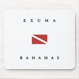 Exuma Bahamas Scuba Dive Flag Mouse Pad