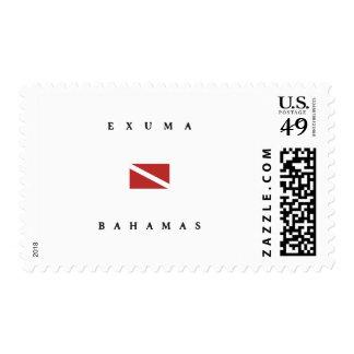 Exuma Bahamas Scuba Dive Flag Postage Stamp