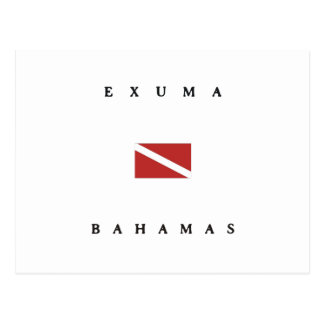 Exuma Bahamas Scuba Dive Flag Postcard
