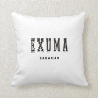 Exuma Bahamas Throw Pillow