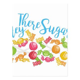 Ey allí azúcar postal