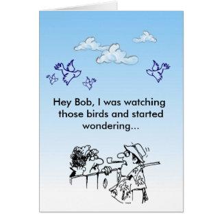 ¡Ey Bob! Tarjeta De Felicitación