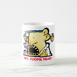 ¡Ey, cabeza de Poopie! Taza De Café