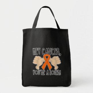 Ey cáncer de la leucemia usted es un perdedor bolsas de mano
