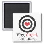 Ey del Cupid del objetivo tarjeta del día de San V Imanes