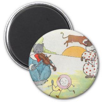 ¡Ey, diddle, diddle!  El gato y el violín Imán Redondo 5 Cm