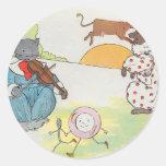 ¡Ey, diddle, diddle!  El gato y el violín Pegatina Redonda