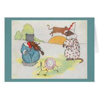 ¡Ey, diddle, diddle!  El gato y el violín Tarjeta De Felicitación