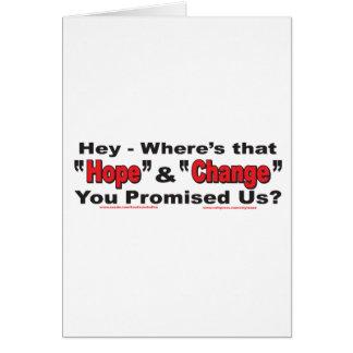 Ey---Esperanza-y-Cambio Tarjeta De Felicitación