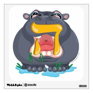 Ey etiqueta de la pared del hipopótamo de la apues vinilo decorativo