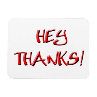 ¡Ey, gracias! Gracias los regalos Imanes Rectangulares