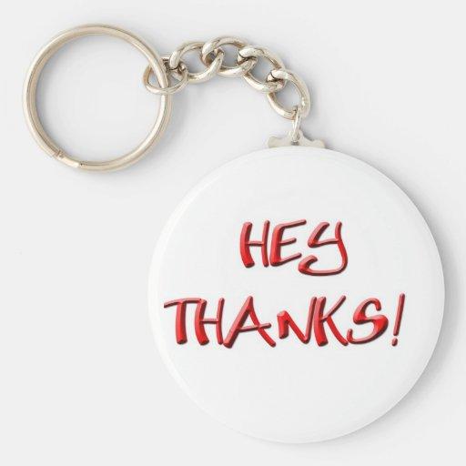 ¡Ey, gracias! Gracias los regalos Llavero Redondo Tipo Pin