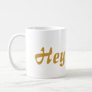Ey letras del oro de Cutie Taza De Café