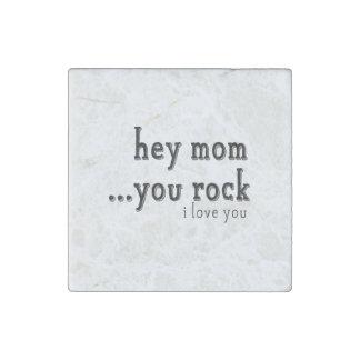 Ey mamá usted oscila te amo el wordart imán de piedra