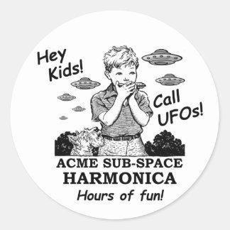 ¡Ey niños! ¡Llamada UFOs! Pegatina Redonda