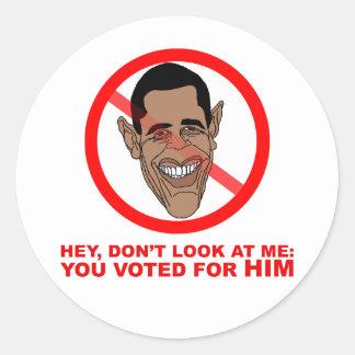 Ey, no me mire: usted votó por ÉL Pegatinas Redondas