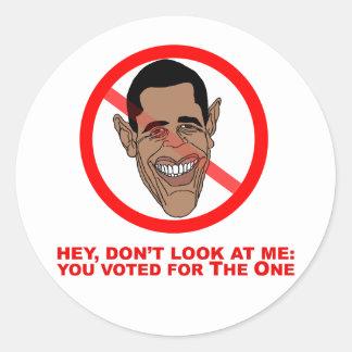 Ey, no me mire: usted votó por el etiquetas redondas