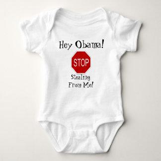¡Ey Obama! ¡Pare el robar de mí! Camisetas