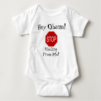 ¡Ey Obama! ¡Pare el robar de mí! Mameluco De Bebé