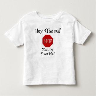 ¡Ey Obama! ¡Pare el robar de mí! Poleras