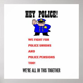 ¡Ey policía! Póster