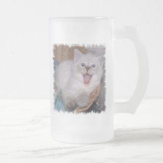Ey, ponga su propia taza AQUÍ Meowing del gatito
