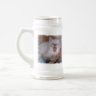 Ey, ponga su propio gatito AQUÍ Meowing Stein del Jarra De Cerveza
