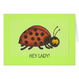 Ey señora, señora Bug Cards Tarjetas