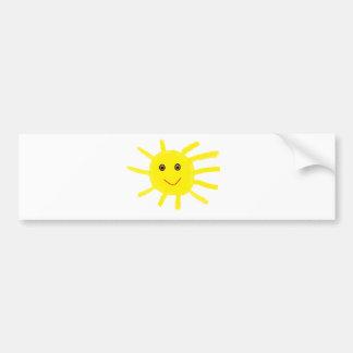 Ey sol etiqueta de parachoque