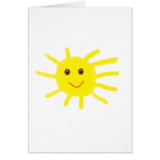 Ey sol tarjeta de felicitación