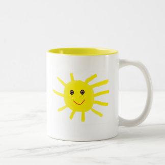 Ey sol taza de café de dos colores
