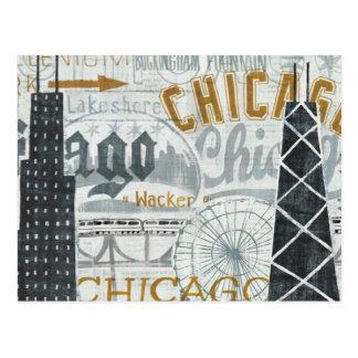 Ey vintage de Chicago Postales