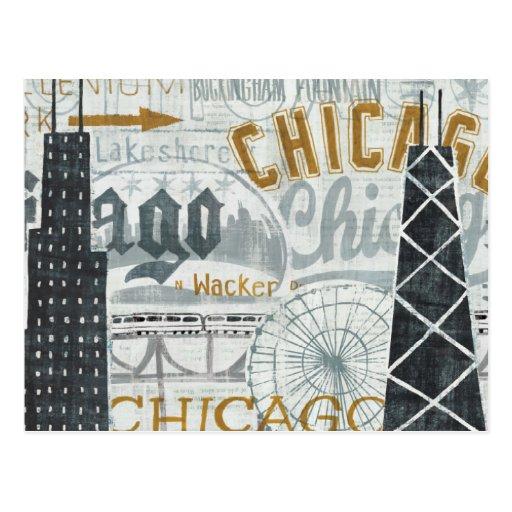 Ey vintage de Chicago Postal