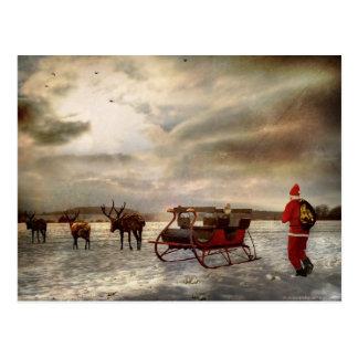 """¡""""Ey, vuelva aquí! """"…. Un boicoteo del navidad Postales"""