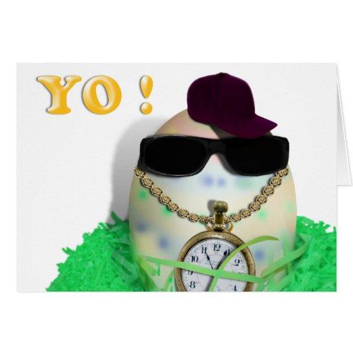 ¡Ey, YO! Gansta feliz Easta Tarjeta De Felicitación