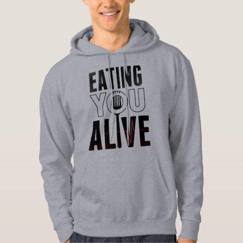 EYA logo _ Hooded Sweatshirt grey