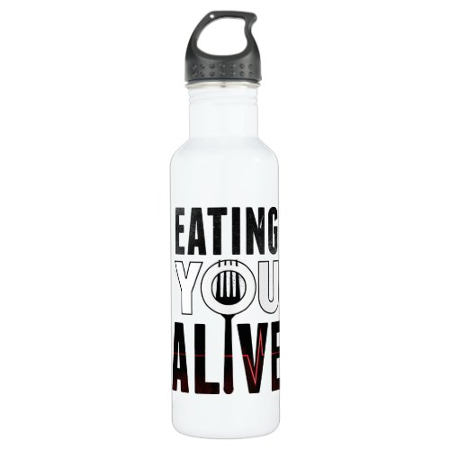 EYA logo _ water bottle 24 oz White