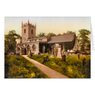 Eyam Church Derbyshire England Card