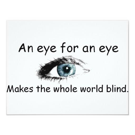 eye4aneye invitación 10,8 x 13,9 cm