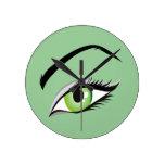 eye-149673 BEAUTY FASHION MAKEUP SALON  eye, green Round Wallclock