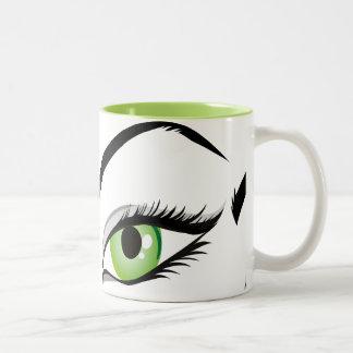 eye-149673 BEAUTY FASHION MAKEUP SALON  eye, green Mug