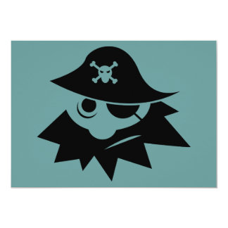 eye-34244  eye silhouette skull cartoon bones hat 5x7 paper invitation card