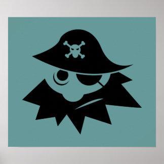 eye-34244 eye silhouette skull cartoon bones hat poster