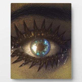 eye-448946 DIGITAL REALISM EYE FANTASY WOMAN MAKEU Display Plaque
